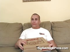 Glamorous Big Sausage Pizza babe swallows a truly big pole Thumb