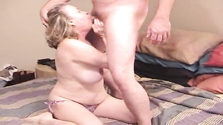 Cock-riding curvaceous Chubby Girl is jumping up and down on his rigid pole Thumb