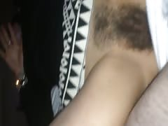 Covering mommys hairy pussy in cum Thumb