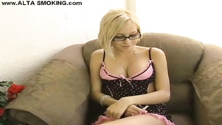 Big Chested blond is revealing her magnificence addictions in exactly the flick by Alta Smoking Thumb