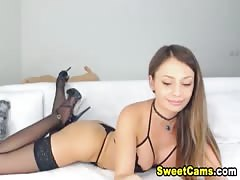 Hot Russian Babe Masturbates Infront Of Her Cam Thumb