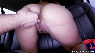 Brilliant redhead broad with oiled a-hole slams in her lips Thumb