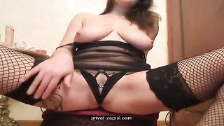Hot huge-boobed babe is hooking up with her own hand Thumb
