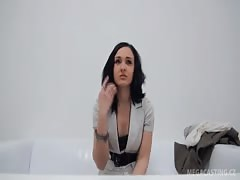 Sexy-looking Chezh babe sucks and fucks on the casting Thumb