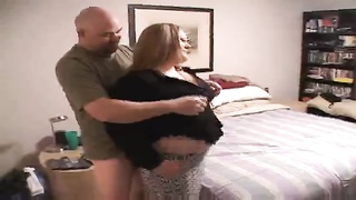 Sleezy homemade Overweight Woman is being clamped hard in her bodacious vag Thumb