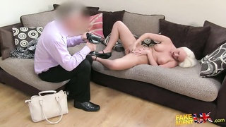 Stunning fake-tit blond is having good sex in precisely the episode by Faux Agent UK Thumb