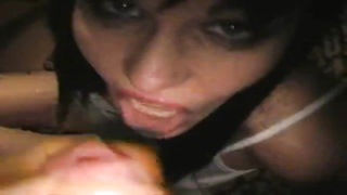 Loads of cumshots on exactly the face of a ruthless brown haired with a great cock-sucking talents Thumb