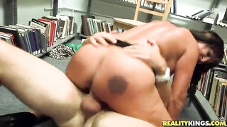 Great sex in library with a indeed outstanding milf! Thumb