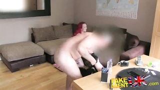 Awesome-looking redhead inexperienced humping by Agent UK Thumb