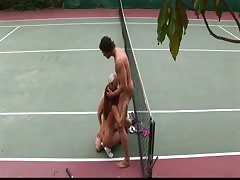Sativa Rose and Saana bang their tennis instructor Thumb