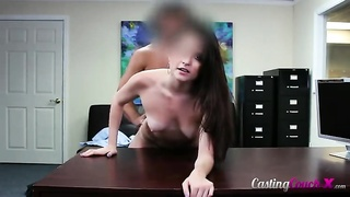 Stunning young sweetie is getting fucked in exactly the doggy-style pose Thumb