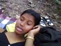 Homeless Indian girl in the forest Thumb
