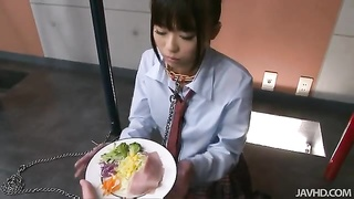 Dressed Chinese schoolgirl swallowing jizz in exactly the movie by Jav HD Thumb