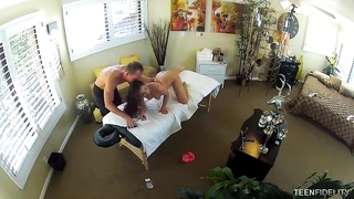 Masseur rams ultra sexy young prostitute on exactly the table! Thumb