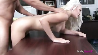 Spicy as hell blond having sex doggie-style in pov movie Thumb