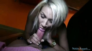 Cock-addicted blond being seduced and attached hard Thumb
