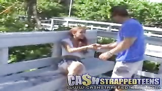 Proficient redhead teen will get some money from a mature fucker Thumb