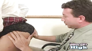 Aggressive as get it on with instructor is being sucked by a slutty dark-haired Thumb