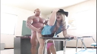 Spicy blond is getting your hands on inserted into hard by a absolute best instructor Thumb