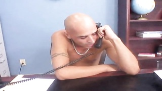 Bald male is nailing a huge titted young woman in her lips Thumb