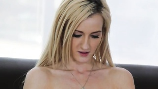 Harmless homemade blond is playing with her cage at exactly the try-out Thumb