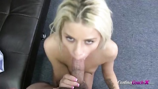 Slutty young blond is humping in her harmless face Thumb