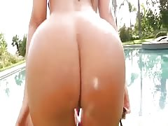 Oiled and tanned, this ass is near perfection! Thumb