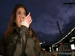 Stunning brunette can suck for money in the video by Public Agent Thumb