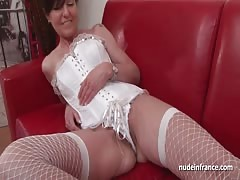 French squirt mature cougar hard double teamed Thumb