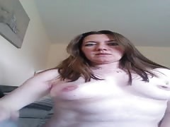 Cheating wife spanks herself and masturbates for her Dom Thumb