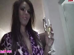 This fabulous slut is happy to suck on a dick in the bathroom Thumb