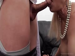 Milf came here to prove her cock-sucking skills on the camera Thumb