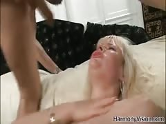 Blonde is sucking a dick while two other guys are nailing her back DP holes Thumb