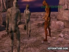 3D Zombie Babe Double Teamed Thumb