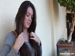 Behind the scenes with Alison Tyler and her breast implants Thumb