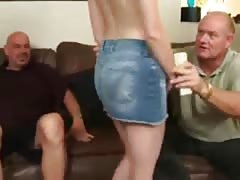 2 Old Men paid by a Redhead Teen Thumb