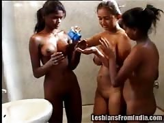 Sanjana, Poonam and Sameera - Bathing Indian Lesbian Sluts Thumb
