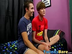 Naughty twink Jacobey wants Elijahs bare cock up his ass Thumb