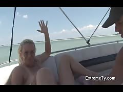 Horny bf is fucking a slutty Extreme Ty blonde on the boat Thumb