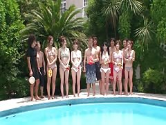 Crazy Japanese pool party with lots of naughty girls Thumb