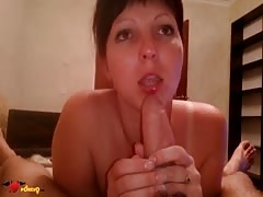 Awesome young mommy is swallowing a juicy hard pole in POV style Thumb