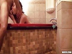 Watch me thrust this pussy hard in the bathroom - after this hottie blows my dick Thumb