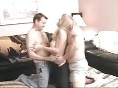 Amateur Bi party - 4 men & 1 lucky woman Thumb