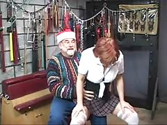 Hot, mature redhead gets her ass tortured in the dungeon Thumb