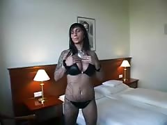 Sensual babe with tattoos is enjoying a hardcore action in the bedroom Thumb