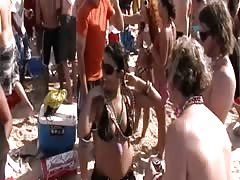 Real Girls Flashing Tits and Pussy and Ass at Spring Break Beach Keg Party Thumb