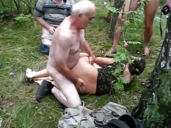 Awesome Russian brunette gets fucked hard by an old guy Thumb