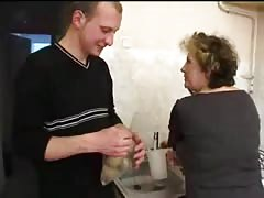 Kinky mature Russian lady is blowing a dick and enjoying threesome Thumb