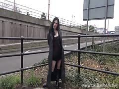 Gothic exhibitionist fayth corbin flashes and masturbates from dates25.com Thumb