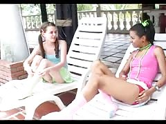 Teen Lesbian  at the  Pool Thumb